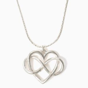 🆕CC Silver Figure 8 Heart Pendent Necklace